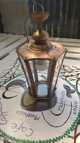 Lampa miedziana Loft PRL