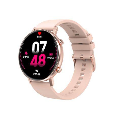 Smartwatch damski TKY-FT06 pasek silikon + metalowy złoty pulsoksymetr