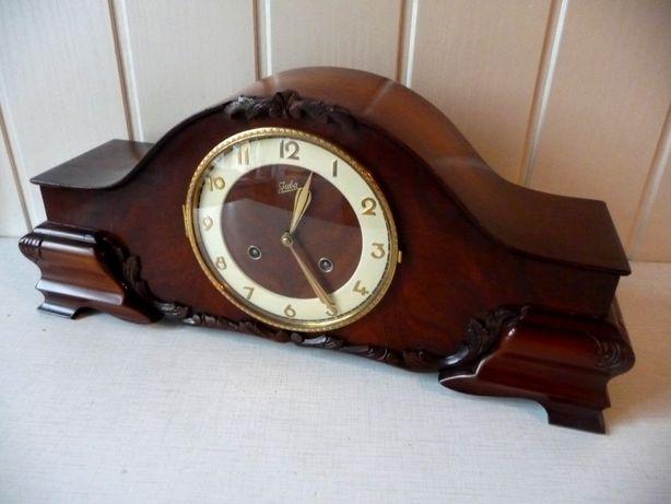 Przepiękny zegar kominkowy Juba, sprawny, 4 x sygn. 4 struny, po renow