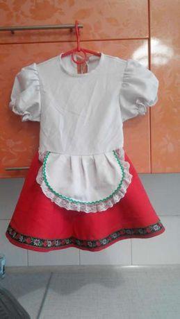Карнавальное новогоднее платье костюм Красной шапочки