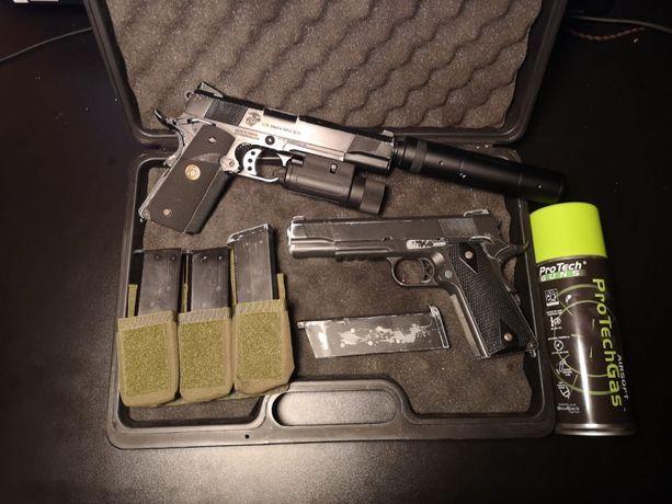 colt 1911 MEU socom gear WE pistolet replika asg blow back green gaz