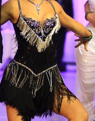 Taniec towarzyski Sukienka do LA kamienie Swarovskiego rozmiar S/M