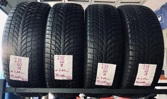 Opony zimowe 235/60/18 Michelin. 7.2mm, 16/17rok. Montaż, wysyłka