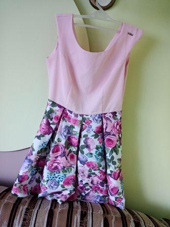Sukienka w kwiatki s/m