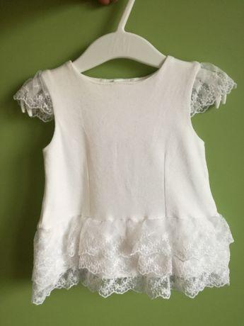 Sukienka biała r. 62 chrzest