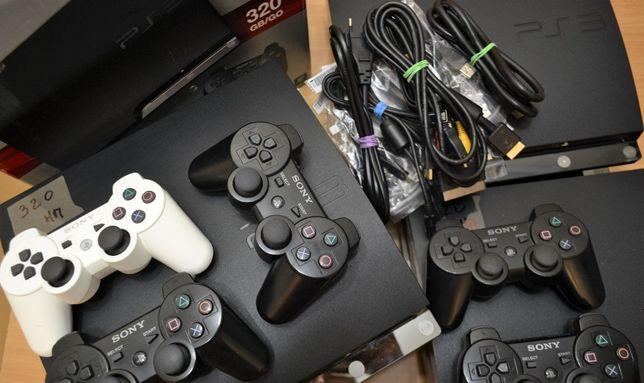 Sony PlayStation 3 Slim 250 Gb прошитая PS3 с гарантией + игры