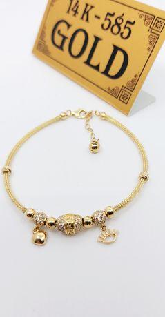 Złota bransoletka Ala Pandora próba 585 waga 5.84 gr
