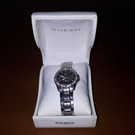 Casio Sheen zegarek damski kryształki Swarovskiego