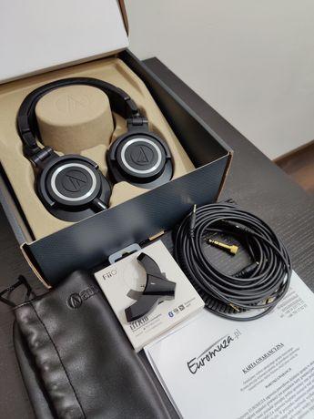 Audio-technica ATH-M50x + adapter BT FiiO BTA10 (Audiotechnica)