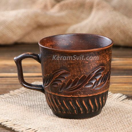 Чашки глиняные Стаканы Рюмки Кружки керамические Склянки Чарки кераміч