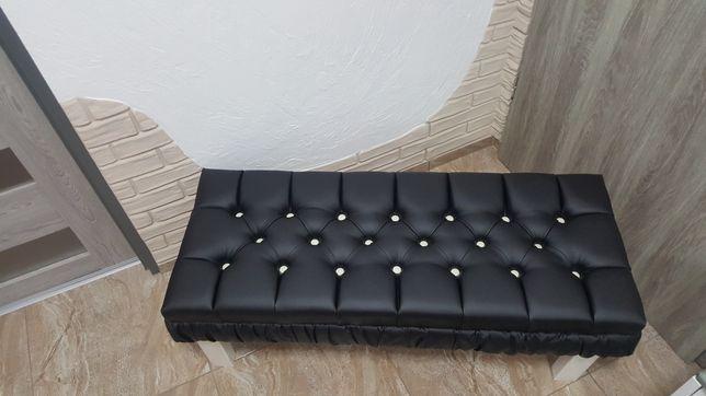 Ławka tapicerowana pikowana