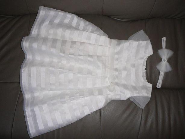 Sukienka chrzest 12-18 miesięcy COCCODRILLO + OPASKA