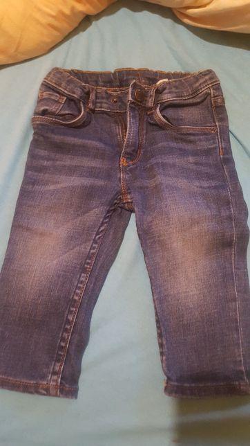 Paka dla chłopca;spodnie jeans, dresy, bluza, polar, kamizelka 74/80