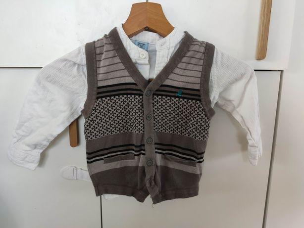 Komplet koszula + kamizelka f&f