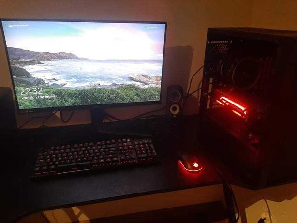 Komputer + monitor rtx 2070 super, 16gb ram, ryzen3600,lg gl850b
