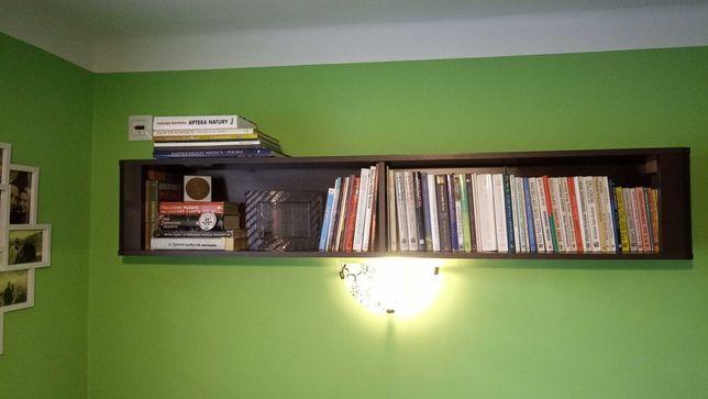 Komplet mebli do salonu Vigo ciemny brąz (witryna, szafka RTV, półka)