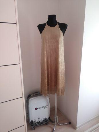 Złota sukienka Mohito M L