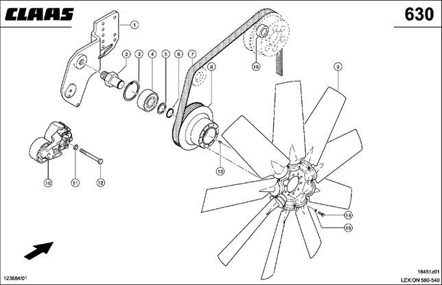 Ступица привода вентилятора CLAAS LEXION 000353700.1 (000796184.0)