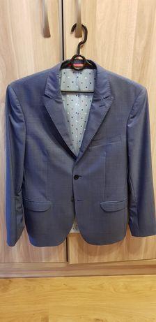Garnitur Vistula 182/100/86 (88) niebieski 50 L cienka wełna z wiskozą