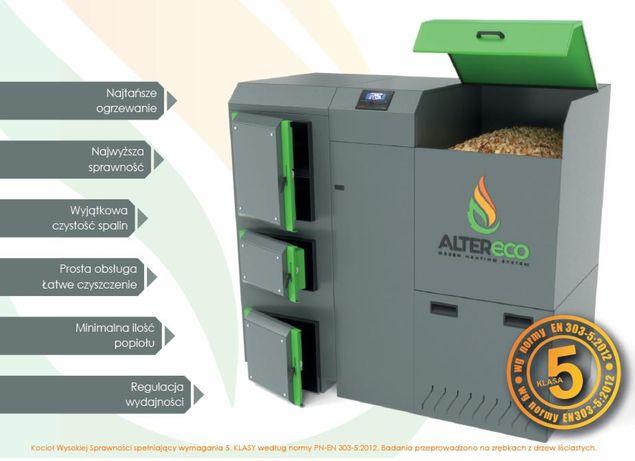Altereco kocioł na zrębkę i pellet, 5 klasa, ecodesign, automatyczny