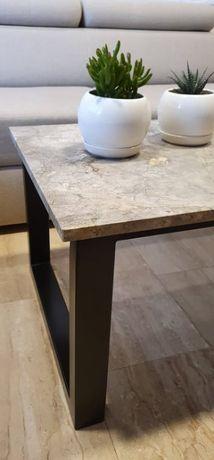Nowy stół z marmurowym blatem Silver Grey, 120x60 cm
