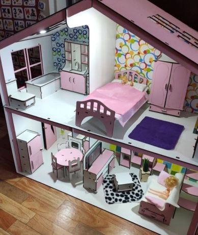 мебели кукольный домик барби игровой набор куклы винкс румьбокс