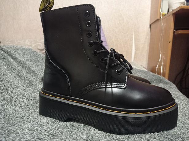 зимние ботинки dr. martens с мехом,  мартинсы, зимние ботинки