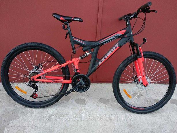Горный велосипед Azimut Power 26 дюймов Азимут Павер красный