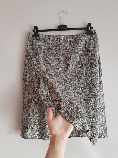 spódnica spódniczka w drobne kwiatki Orsay M 38 L 40 zakładana satyna