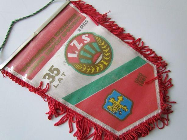 Proporczyk 35 lat LZS w Opolu Ludowe Zespoły Sportowe 1981