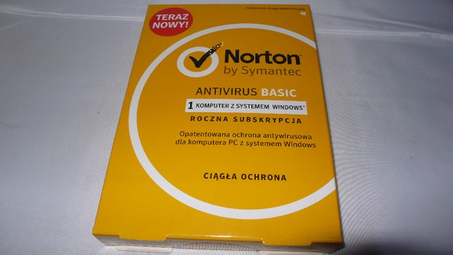 Antywirus Norton Antivirus Basic 1PC/laptop 1rok nowy w kartoniku