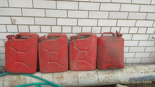 Канистры металлические 20 литров