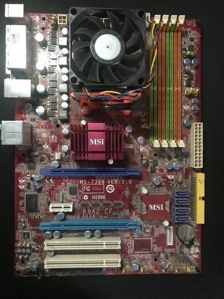 Материнская плата MSI K9A2 CF (ms-7388 Ver 1.0) sAM2+ AM3 DDR2-1066