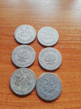 Moneta 50 groszy 1949.(6sztuk)