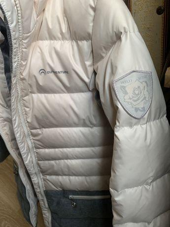 Куртка зимняя пуховая для девочки 8-10 лет