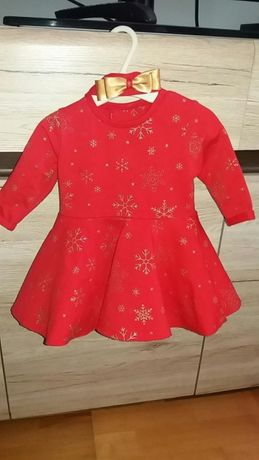 Cudowna sukienka + opaska rozmiar 68
