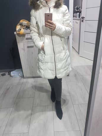 Kurtka zimowa ciążowa bonprix rozmiar 34 biała