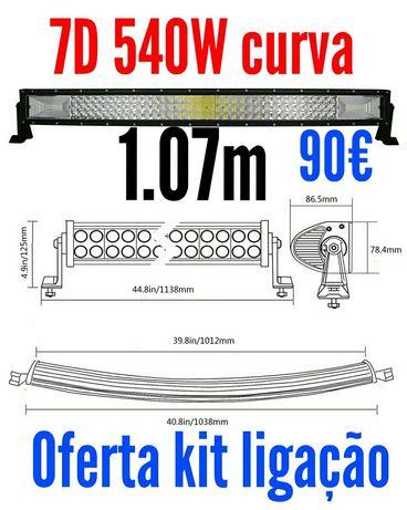 Barra led curva 7D 540W
