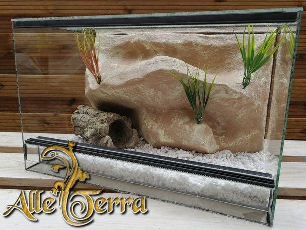 Terrarium szklane z pustynnym wystrojem 52x30x33 cm