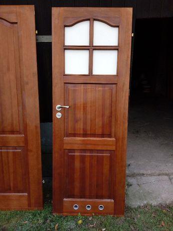 4szt drzwi drewniane wewnętrzne z demontażu