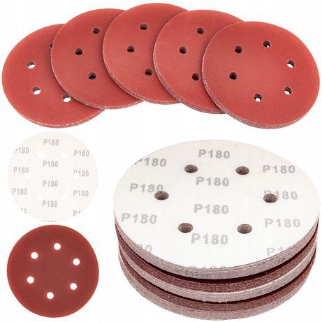Papier ścierny rzep krążek na dysk 150mm 50szt P180 (ZES252)