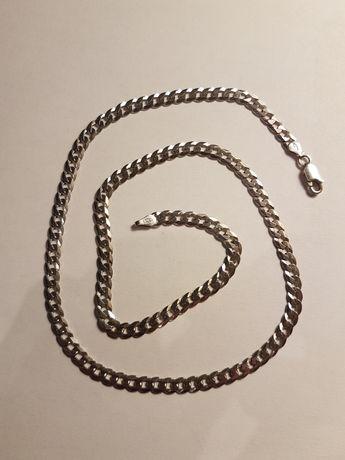 Męski srebrny łańcuszek pancerka dł. 50.5 cm pr. 925