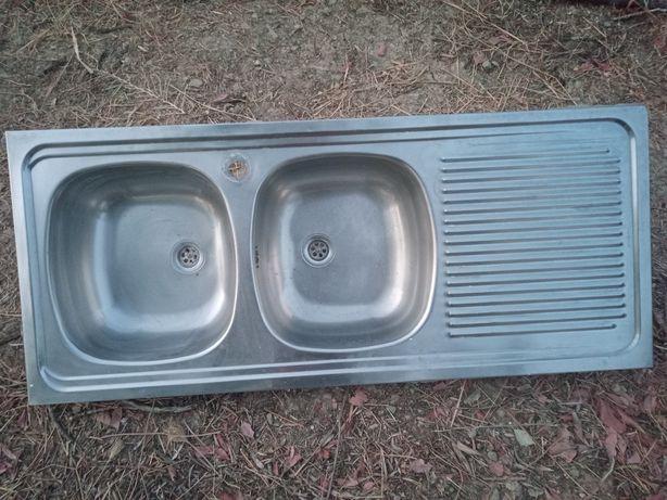 lava louça inox 2 cubas de imbutir