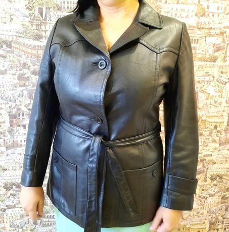 Натуральная кожаная курточка.