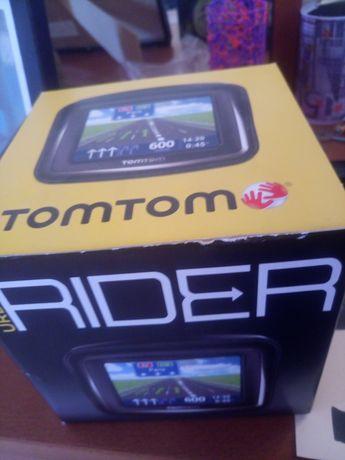 Gps TomTom rider semi novo com caixa completo