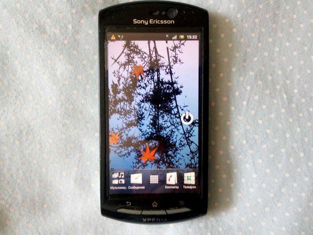 Телефон Sony Xperia, хорошее состояние, пленка, бампер