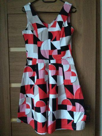 Sukienka w geometryczny print, TOP SECRET, 36
