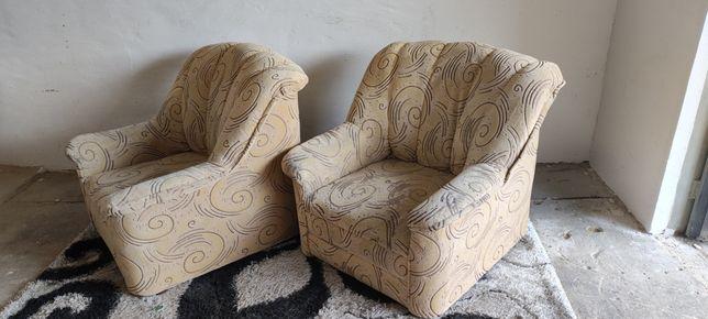 Fotele duże beżowe