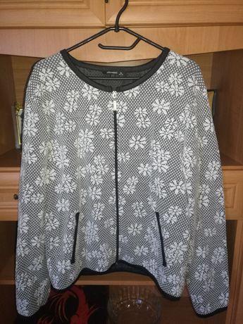 Rozpinany sweterek w kwiatki 44/46