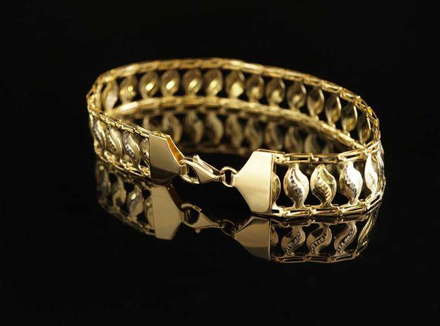 Złoto- 585 złota damska bransoletka Kleopatra